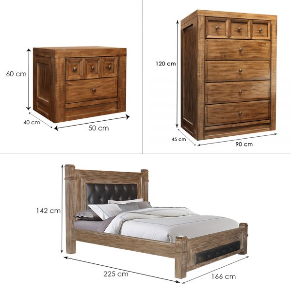 Dakota Tallboy Suite Queen Dim