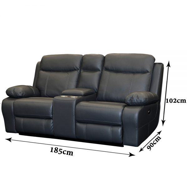 Bari-2Seater-Black-Dim