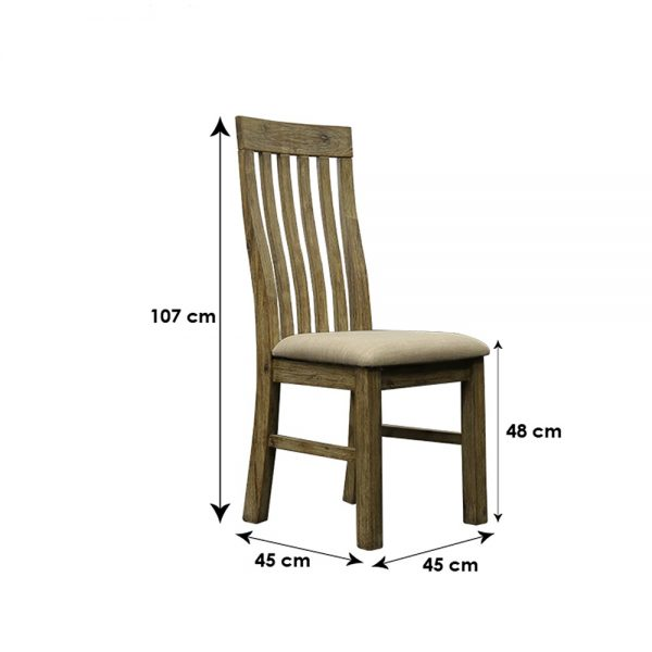 Ac Slat Back Chair Dim