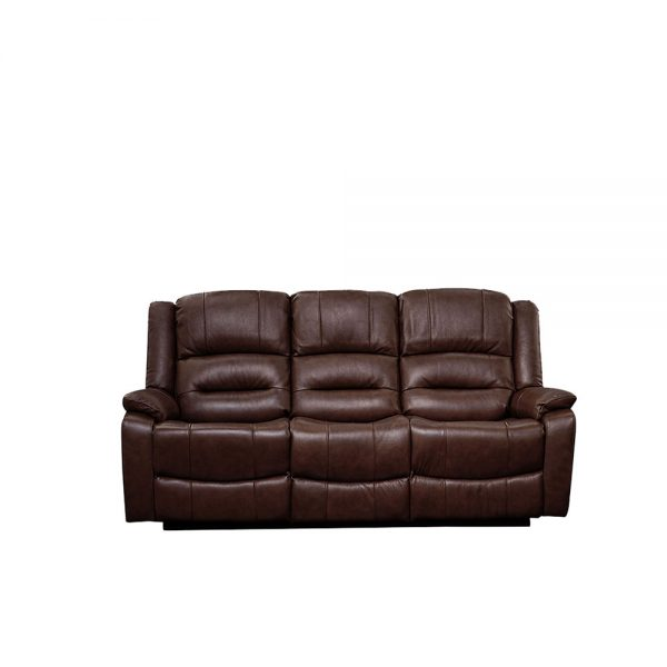 Titan-Wine Brown-3 Seater-Recliner