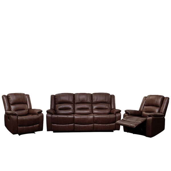 Titan-Wine Brown-311 Seater-Recliner