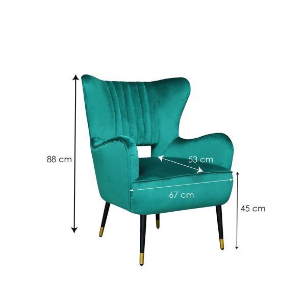 Elle-Valvet-Chair-Green-Dim